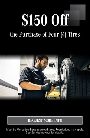$150 Off the Purchase of Four (4) Tires