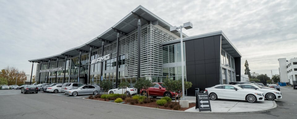 Exterior view of Mercedes-Benz of Stevens Creek