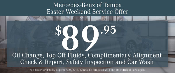 Mercedes-Benz Oil Change Coupon