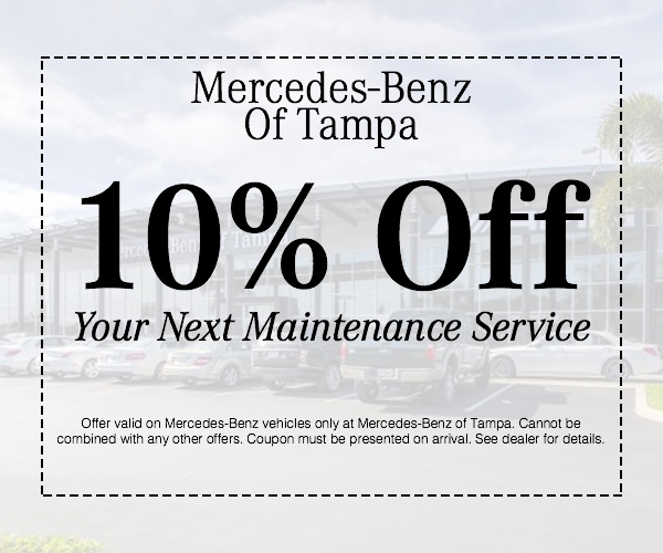 10 off your next service mercedes benz service tampa for Service coupons for mercedes benz