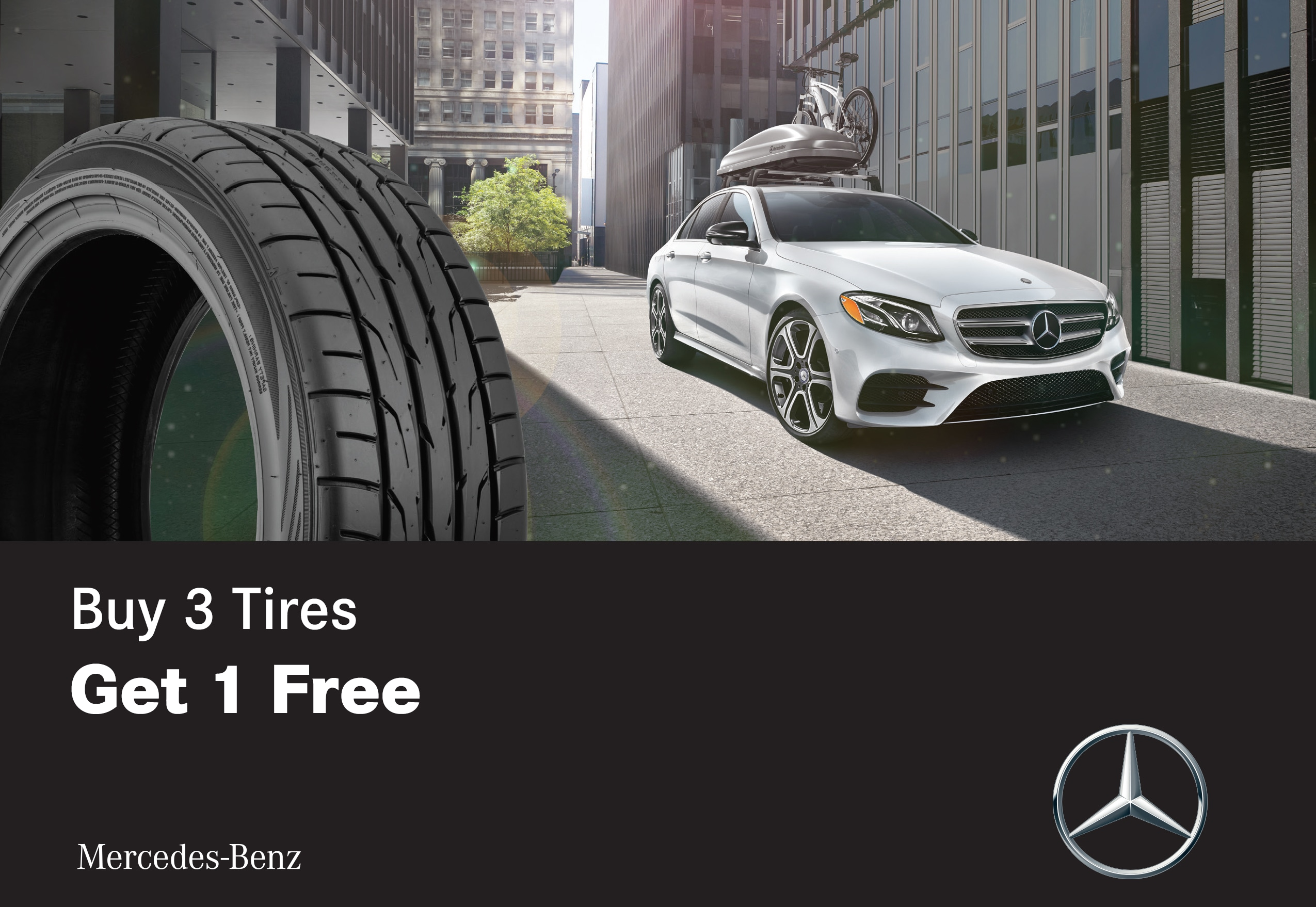 Mercedes Benz Tire Special - Buy 3 tires get 1 free