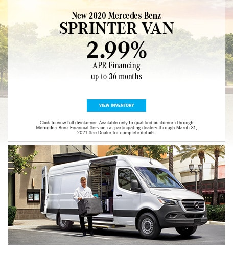 New 2020 Mercedes-Benz Sprinter Van