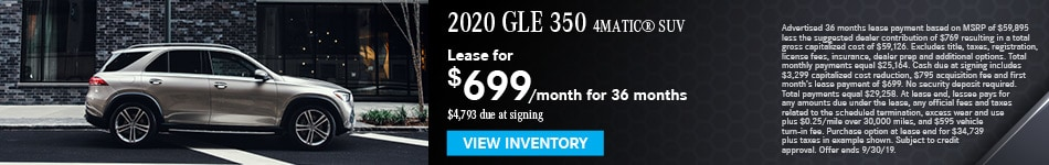 2019 GLE 350 SUV - September Offer