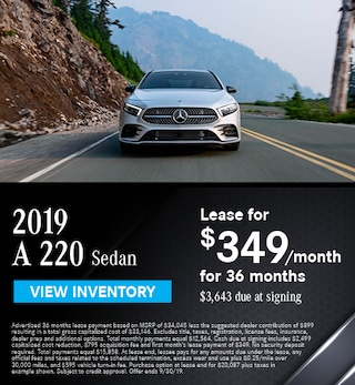 2019 A 220 Sedan - September Offer
