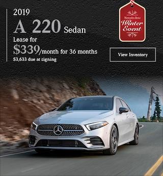 2019 A 220 Sedan - November Offer