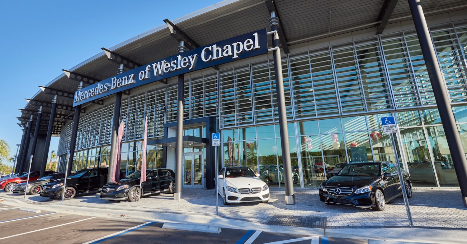 Outside view of Mercedes-Benz of Wesley Chapel