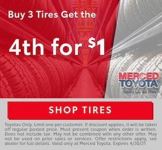 Buy 3 Tired get the 4th for $1