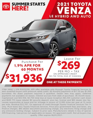 2021 Toyota Venza $269