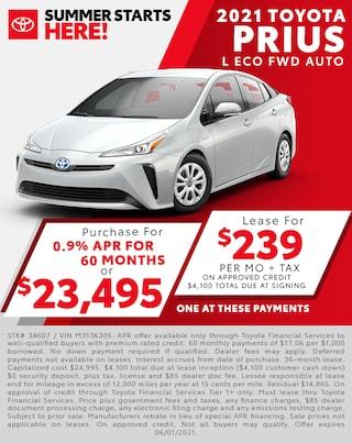 2021 Toyota Prius $239