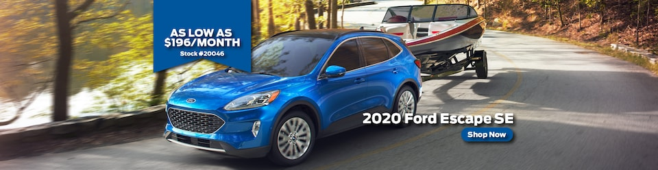 Lease a 2020 Ford Escape for $169/month with $2,495.00 due at signing