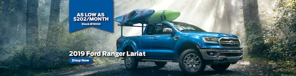 Lease 2019 Ford Ranger Lariat Crew Cab for $202/month