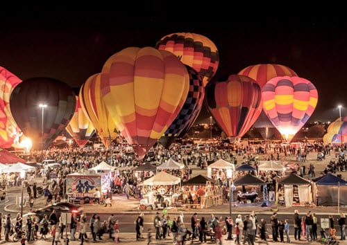 SanTan Village Holiday Balloon Glow