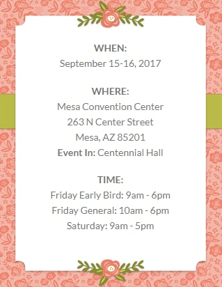 Stamp and Scrapbook Expo in Mesa