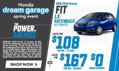New 2019 Honda Fit 4/11/2019