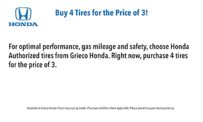 Buy 4 Tires for the Price of 3