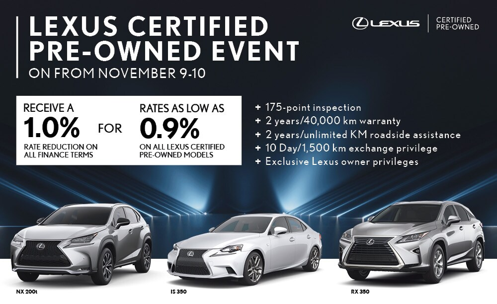 Lexus Certified Pre-Owned Event