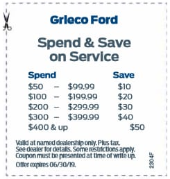 Spend & Save On Service
