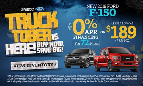 (October) New 2019 Ford F-150