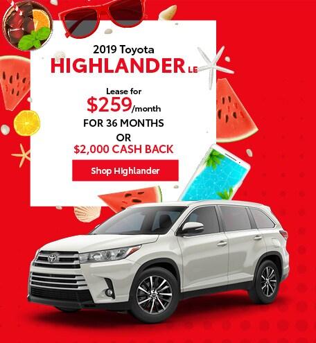 June 2019 Toyota Highlander