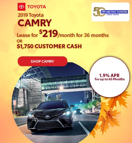 October 2019 Toyota Camry