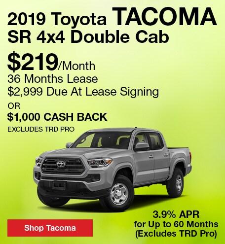 April 2019 Toyota Tacoma