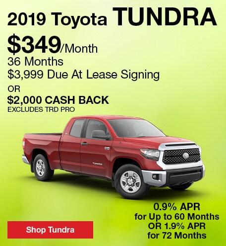 April 2019 Toyota Tundra