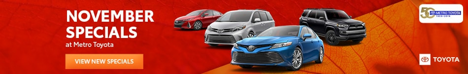 November 2019 New Vehicle Specials