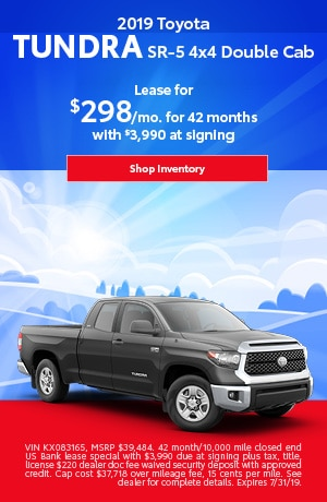 July 2019 Tundra Lease Special