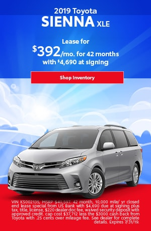 July 2019 Sienna Lease Special