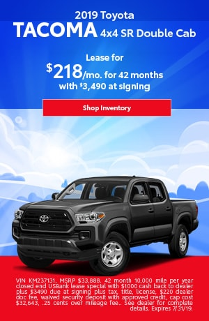 July 2019 Tacoma Lease Special
