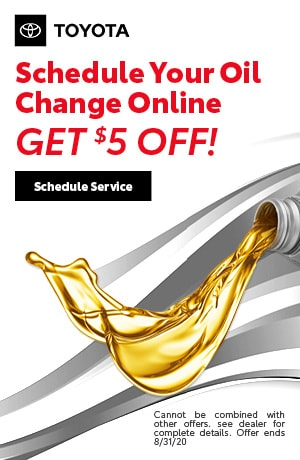 $5 off Oil Change w/scheduled service