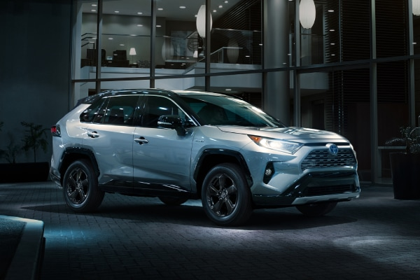 New RAV4 Hybrid exterior at night
