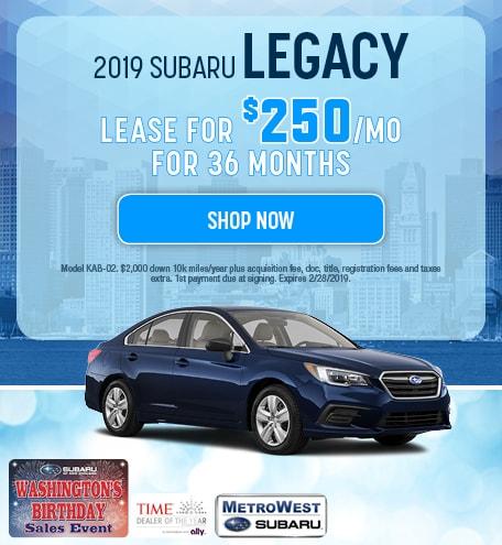 2019 Subaru Legacy Updated