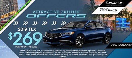 Acura Lease Deals >> New Vehicle Specials Miami Acura