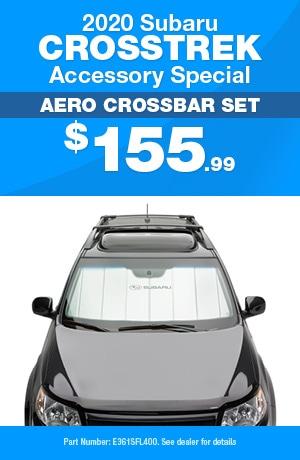 Aero Crossbar Set - 2020 Subaru Crosstrek Accessory Special