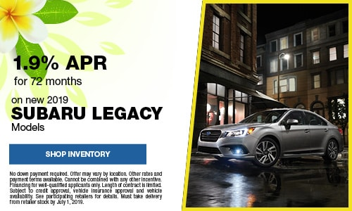 June Subaru Legacy APR Offer