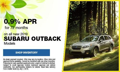 June Subaru Outback APR Offer