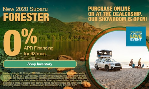 August Forester APR Offer