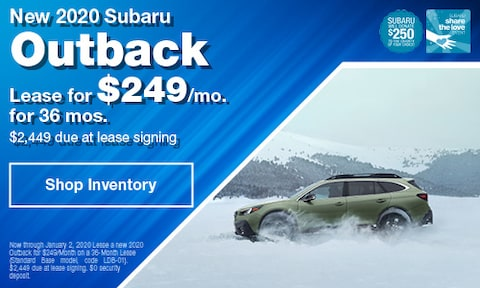 December Outback Lease Offer