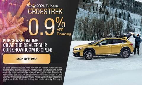 January New 2021 Subaru Crosstrek APR Offer