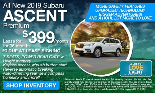New 2019 Subaru Ascent Offer at Michael Hohl Subaru