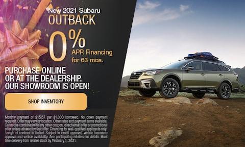 January New 2021 Subaru Outback APR Offer