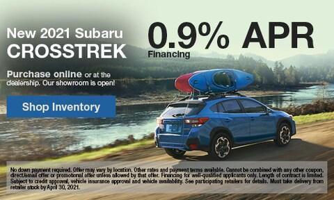 New 2021 Subaru Crosstrek- April Offer