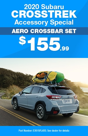 Aero Crossbar Set - 2020 Subaru Crosstrek Accessory Special