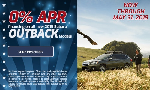 May Subaru Outback APR Offer