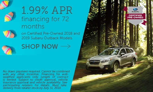 July Subaru Outback CPO Offer