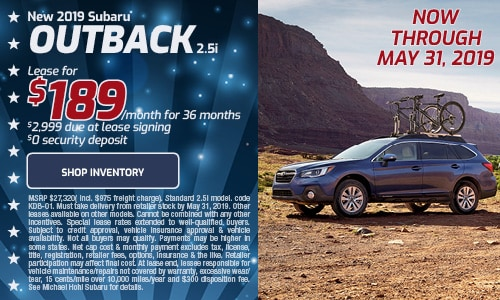 May Subaru Outback Lease Offer