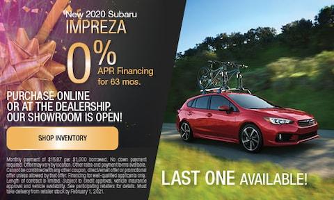 January New 2020 Subaru Impreza APR Offer