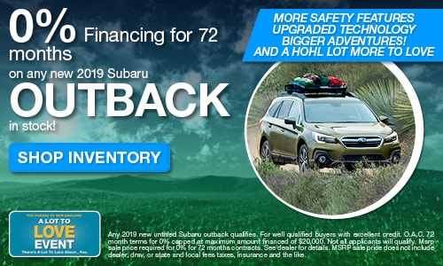 New 2019 Subaru Outback Offer at Michael Hohl Subaru