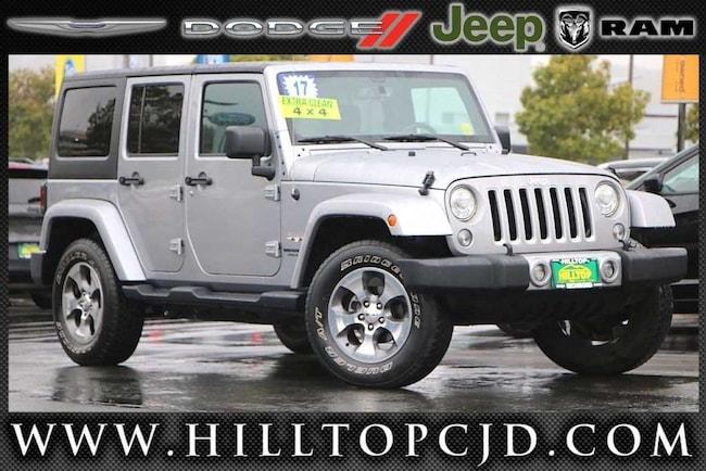 Used 2017 Jeep Wrangler JK Unlimited Sahara 4x4 SUV in Richmond, CA